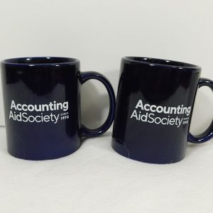 Accounting Aid Society Set of 2 Mugs Navy Blue